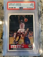 Michael Jordan 1998 Upper Deck PSA 9 Choice Preview Chicago Bulls Iconic Dunk