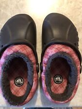 Childrens Size 12/13 Brown CROC Slipons Red