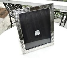 """LARGE WEAVE PATTERN STERLING SILVER PICTURE FRAME,11.5"""" X 9.5"""",VERY NICE,ORIG."""