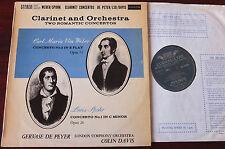 LOISEAU SOL. 60035 WEBER SPOHR CLARINET CONCS LP DE PEYER (1961) NM- GROOVED