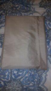 "NEW Pottery Barn Silk Dupioni Drape Pole Top Cotton Lining 108"" Parchment taupe"