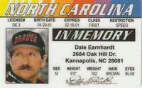 memory Dale Earnhardt Sr Senior Kannapolis North Carolina Drivers License Nascar