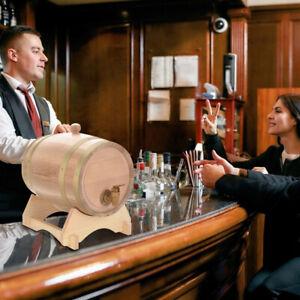5L Eichenfass Wasser Tonne Tank Fass Eiche Holzfass Eichenholz Wein Whisky DHL