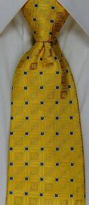 100% THAI SILK ZIPPER NECKTIE TIE WITH LOCK colorful design yellow gold blue