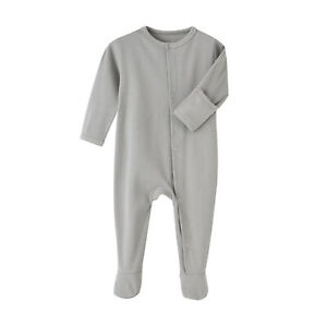 Infant Baby Long Sleeve Romper Bodysuit Solid Color Jumpsuits Casual Daily Wear