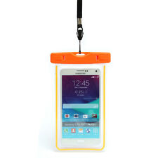 Waterproof Underwater Luminous Float Pouch Bag Case for iPhone 7 7plus 6 6s 5 5s Orange