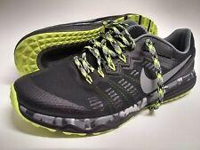 Nike Dual Fusion Trail 2 819146-001 Men's Size 10 Black Green Neón