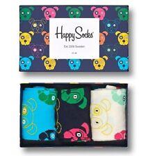 Happy Socks Dog Hunde Gift Box Geschenkbox hellblau dunkelblau weiß 36-40+41-46