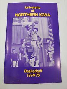 1974-75 Northern Iowa basketball program  schedule