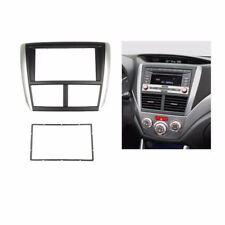 Car 2 Din Fascia Stereo For SUBARU Forester Impreza Dash Mount Trim Kit Frame