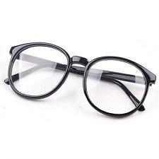 Unisex Fashion Clear Round Lens Eyeglasses Frame Retro Men Women Nerd Glasses