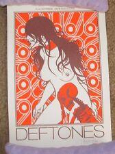 DEFTONES handbill poster 2013 HOUSTON art silkscreen print jermaine rogers