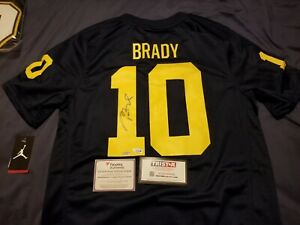 Tom Brady autographed Signed Michigan Jordan Brand Jersey Dbl Cert Tristar Coa