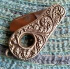 Vintage Antique Sterling Silver Cigar Cutter Pen Fob Folding Pocket Knife