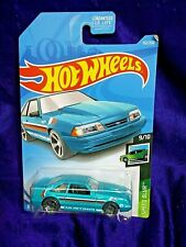 Hot Wheels '92 Ford Mustang Speed Blur Series #9/10 Blue Die-Cast 1:64 Scale