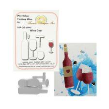 Wine Gear Metal Die Cut Frantic Stamper Cutting Dies Bottle Glass Cork Corkscrew