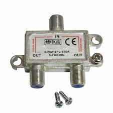 SAT Verteiler ( 5-2500Mhz ) 2 fach Splitter digital Kabel TV DVB-T HDTV UKW 4K