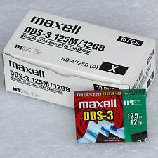 DAT BAND STREAMER KASSETTE CARTRIDGE MAXELL HS-4/125S DDS-3 DDS 3 12 GB 24GB T02