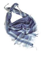 PLO Halstuch Schal Palästinenser Halstuch Headwrap Shemagh weiß / Blau Scarf