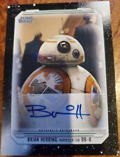 2019 Topps Star Wars Skywalker Saga Brian Herring as Bb-8 Autographed Card
