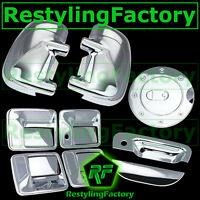 99-07 Ford Super Duty Chrome Mirror+4 Door Handle w/o PSG KH+Tailgate+GAS Cover