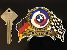 BMW GUNSIGHT type MOTORSPORT Flags & Scroll car sticker