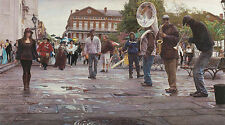 Steve Hanks NEW ORLEANS: CELEBRATING LIFE DEATH & PURSUIT giclee paper #149/150