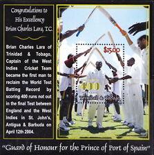 Trinidad & Tobago MNH SS, Brain Lara, World Batting Record, Cricket, Sports @