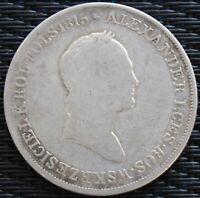 POLOGNE 5 ZL ALEXANDRE I 1829 ARGENT