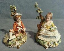 Porcellana  Capodimonte. Splendida coppia in Miniatura. Hansel e Gretel