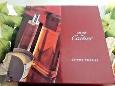 ❤️ Must Cartier,coffret prestige EDT 3.4oz.100 ml.bath caviar and dry body oil