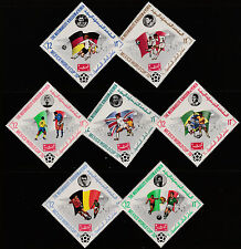 Yemen (1966) - 1970 Worl Cup FOOTBALL set of 7 values unmounted mint