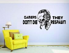 Gamer Wall Mural Sticker Decal Vinyl Decor Do Not Die Respawn Video Game Player