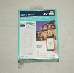 NEW Leviton decora smart Switch with z-Wave DZ15S Almond
