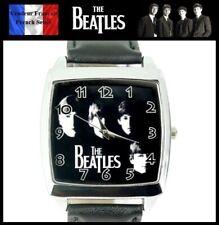 Montre à quartz NEUVE Bracelet Cuir ! ( Watch ) - The Beatles Rock ( Ref 2 )