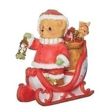 Cherished Teddies 133471 Morgan Santa Sleigh Christmas Figurine