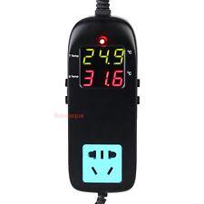 Termostato Electronico Digital LED Controlador Temperatura & Enchufe 90V-250V AC