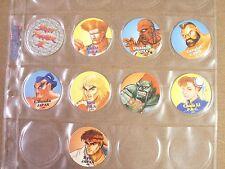 POGS/MILKCAPS STREET FIGHTER II COMPLETE DATED 1993 SET OF (9)