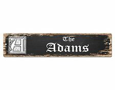 SP0476 The ADAMS'S Family name Plate Sign Bar Store Cafe Home Chic Decor Gift