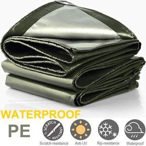 Large Heavy Duty Poly Tarp Waterproof Tarpaulin Cover Camping Outdoor Garden