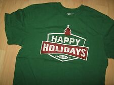 Old Navy Christmas Tee - 2010 Happy Holidays Retail Sales Clerk Store T Shirt Lg