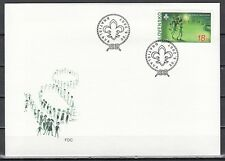 Slovakia, Scott cat. 520. Scout Centenary issue. First day cover.