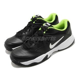 Nike Court Lite 2 Black White Volt Men Tennis Shoes Sneakers Trainers AR8836-009