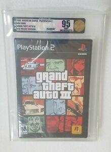 Grand Theft Auto III PlayStation 2 2005 Graded VGA 95 MINT GOLD WATA 9.6 Rare