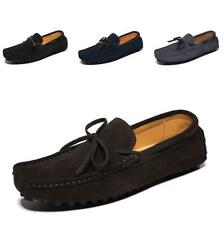New Mens Flats Driving Suede Soft Slip on Non-slip Casual Loafers Moccasin Shoes