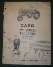 """Estuche """"V"""" Serie Tractor Manual de Piezas Libro OEM Original"""