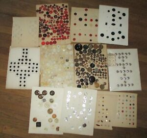 COLLECTION 400+ ANTIQUE & VINTAGE BUTTONS - GLASS PEARL PLASTIC CELLULOID CHINA
