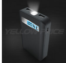 LED Light 10400mAh Portable External Battery Charger Power Bank for Cell Phone