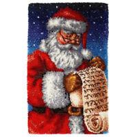 "GEX Latch Hook Kit Rug 43*29"" DIY Craft Needle Carpet Embroidery Santa Claus"