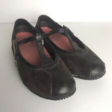 MERRELL Relay Wire Chestnut Brown Suede T Strap Mary Jane Shoes Sneakers Sz 7
